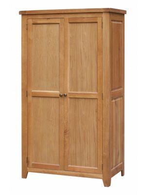 Acorn Solid Oak 2 Door Full Hanging Wardrobe