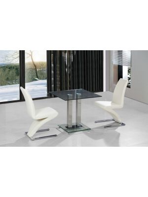 Ankara Z Chairs 2 Seater Square Dining Set