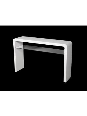 Atlantis Clarus High Gloss White Large Console Table