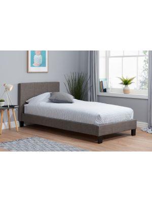 Berlin Fabric Grey Single Bed