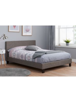 Berlin Fabric Grey King Size Bed