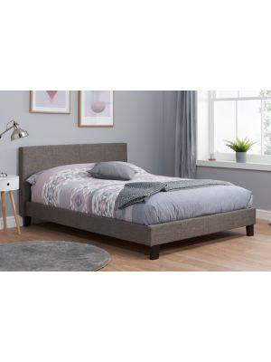 Berlin Fabric Grey Double Bed