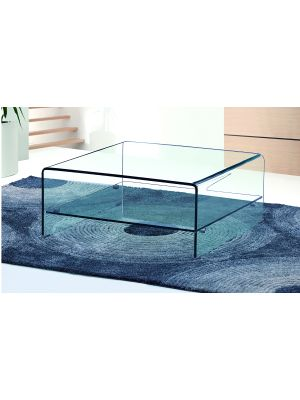 Angola Square Coffee Table with Shelf