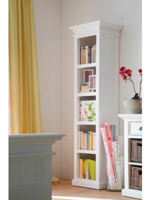 Whitehaven Painted Tall Narrow Bookcase