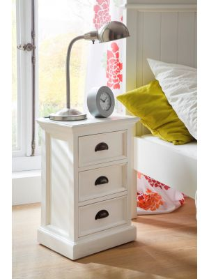Whitehaven Painted Small 3 Drawer Chest / Bedside Cabinet
