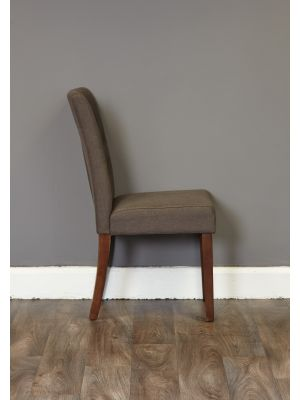 Mayan Flare Back Upholstered Dining Chairs (Pair)
