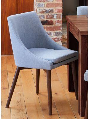 Shiro Walnut Grey Chairs (Pair)