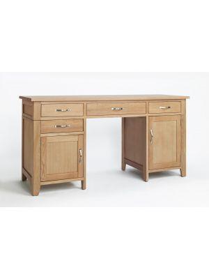 Cambridge Oak Double Pedestal Desk