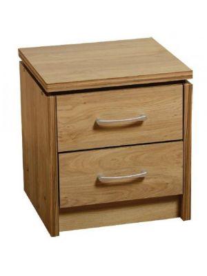 Charles 2 Drawer Bedside Cabinet