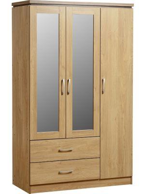 Charles 3 Door 2 Drawer Mirrored Wardrobe