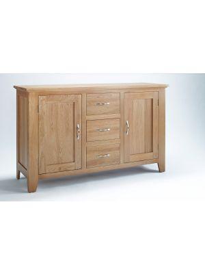 Cambridge Oak 2 Door 3 Drawer Sideboard