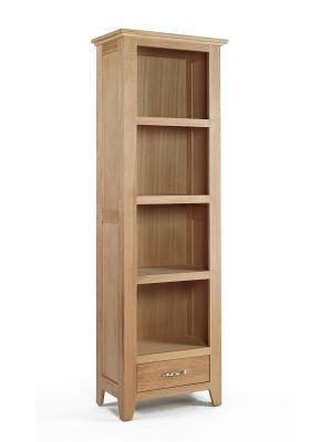 Cambridge Oak Tall Narrow Bookcase