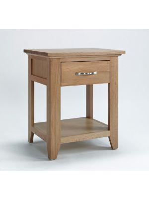 Cambridge Oak 1 Drawer Lamp Table