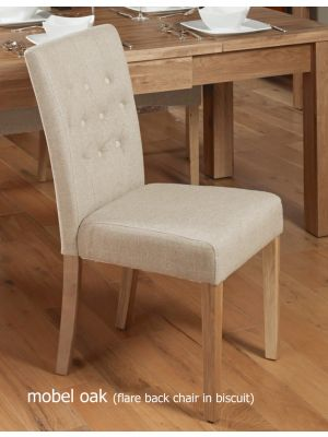Mobel Flare Back Upholstered Dining Chairs (Pair)