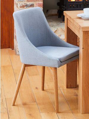 Mobel Oak Grey Dining Chairs (Pair)