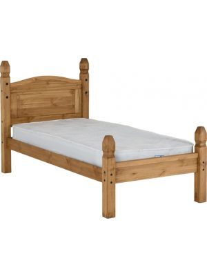 Corona Single Bed Low Foot End in Distressed Waxed Pine