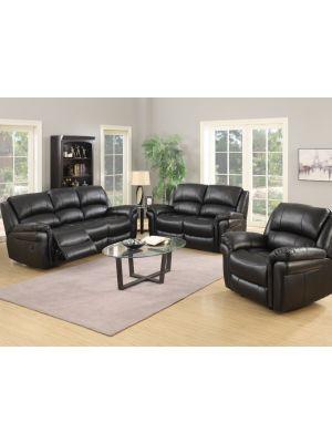 Farnham Black 3+1+1 Sofa Suite