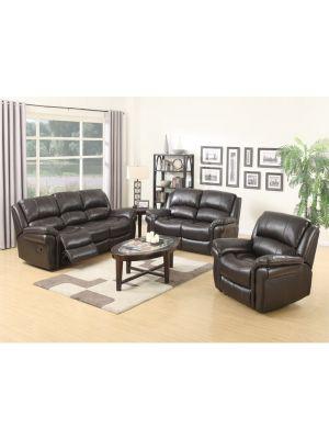 Farnham Brown 3+1+1 Sofa Suite
