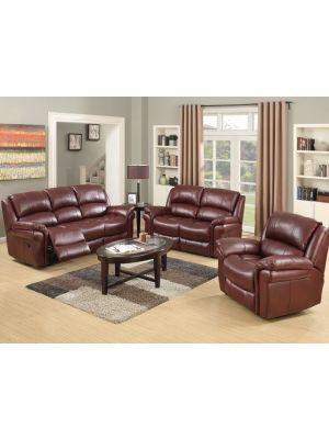 Farnham Burgundy 3+1+1 Sofa Suite
