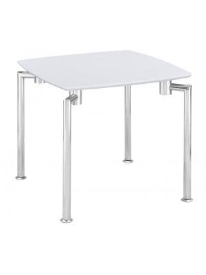 Fiji White High Gloss Lamp Table