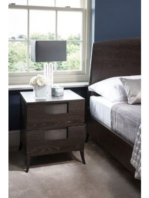 Fitzroy Narrow Two Drawer Bedside Chest