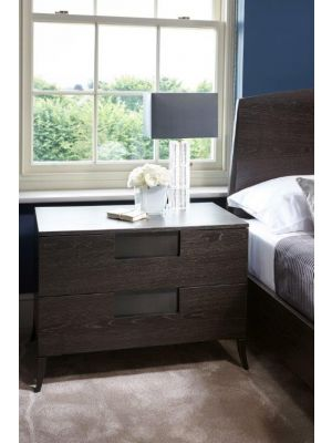 Fitzroy Wide Two Drawer Bedside Chest