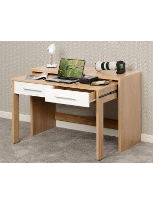 Seville White 2 Drawer Desk