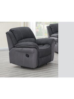 Kingston Charcoal Fusion 1 Seater Sofa