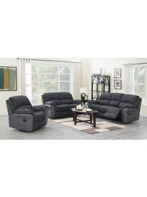Kingston Charcoal Fusion 2 Seater Sofa