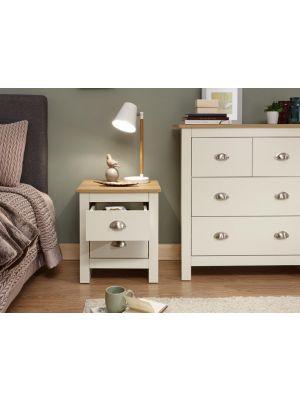 Lancaster Cream 2 Drawer Bedside