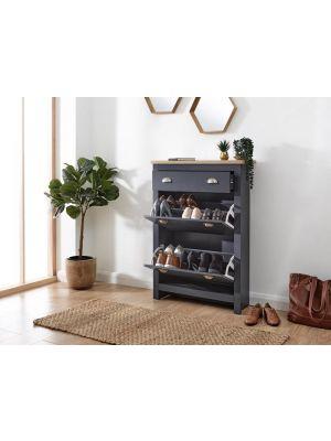 Lancaster Slate Blue Shoe Cabinet
