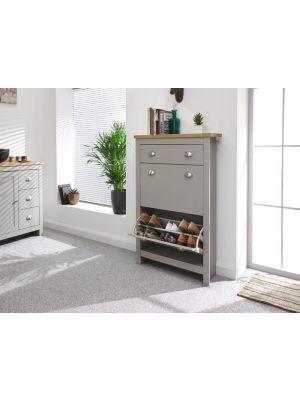 Lancaster Grey Shoe Cabinet