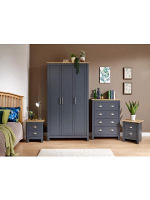 Lancaster Slate Blue 4 Piece Bedroom Set