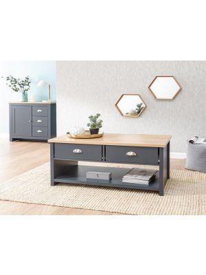 Lancaster Slate Blue 2 Drawer Coffee Table