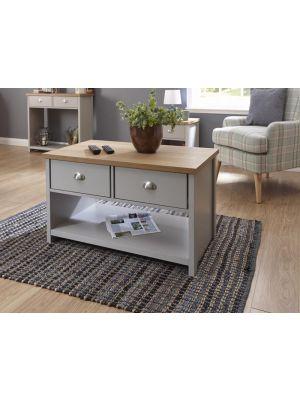 Lancaster Grey 2 Drawer Coffee Table