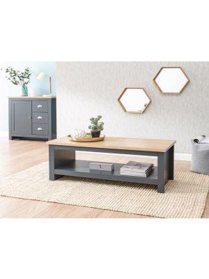 Lancaster Slate Blue Coffee Table with Shelf