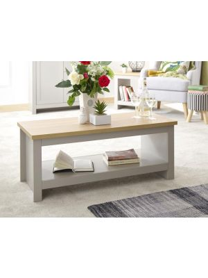 Lancaster Grey Coffee Table with Shelf