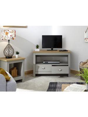 Lancaster Grey Corner TV Unit
