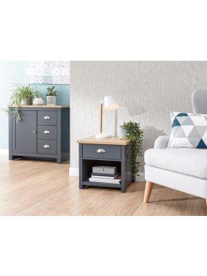Lancaster Slate Blue Lamp Table