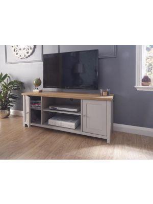 Lancaster Grey Large TV Cabinet