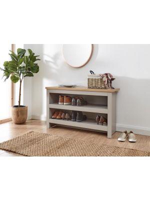 Lancaster Grey Simple Shoe Bench