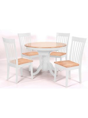 Leicester White Extending Dining Set