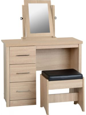 Lisbon Dressing Table Set with Mirror