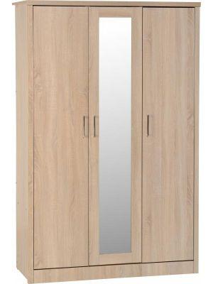 Lisbon 3 Door Wardrobe in Light Oak