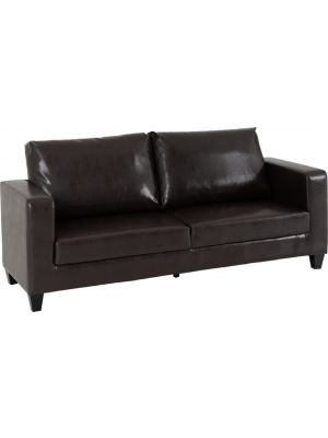 Lucy Brown 3 Seater Sofa