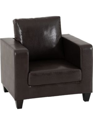 Lucy Brown 1 Seater Sofa