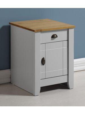 Ludlow Grey 1 Drawer 1 Door Bedside Cabinet