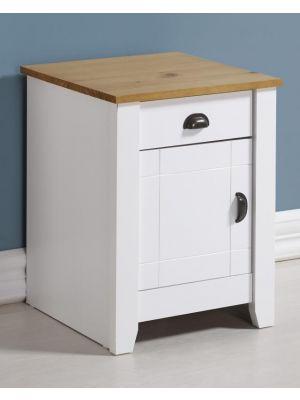 Ludlow White 1 Drawer 1 Door Bedside Cabinet