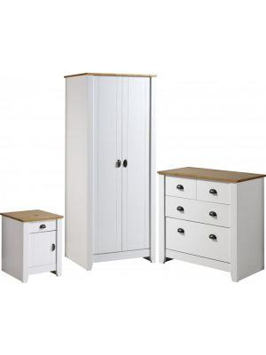 Ludlow White Trio Bedroom Set