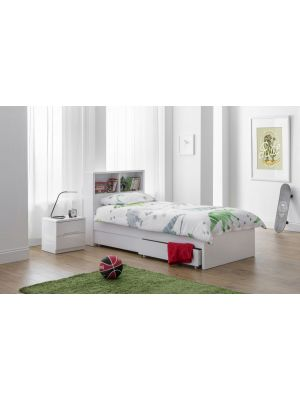 Manhattan High Gloss Bookcase Bed with Underbed Drawers
